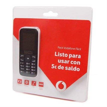 Pack Vodafone Facil Alcatel 1052 blanco